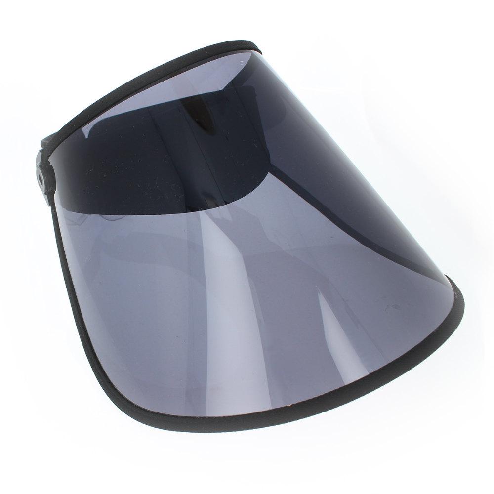 サンバイザー 送料無料 スモーク透明 クリアつば つば広 幅広 可動タイプ メッシュ素材 あご紐付 日除け 雨避け フェイスシールド フェイスガード 自転車 運転