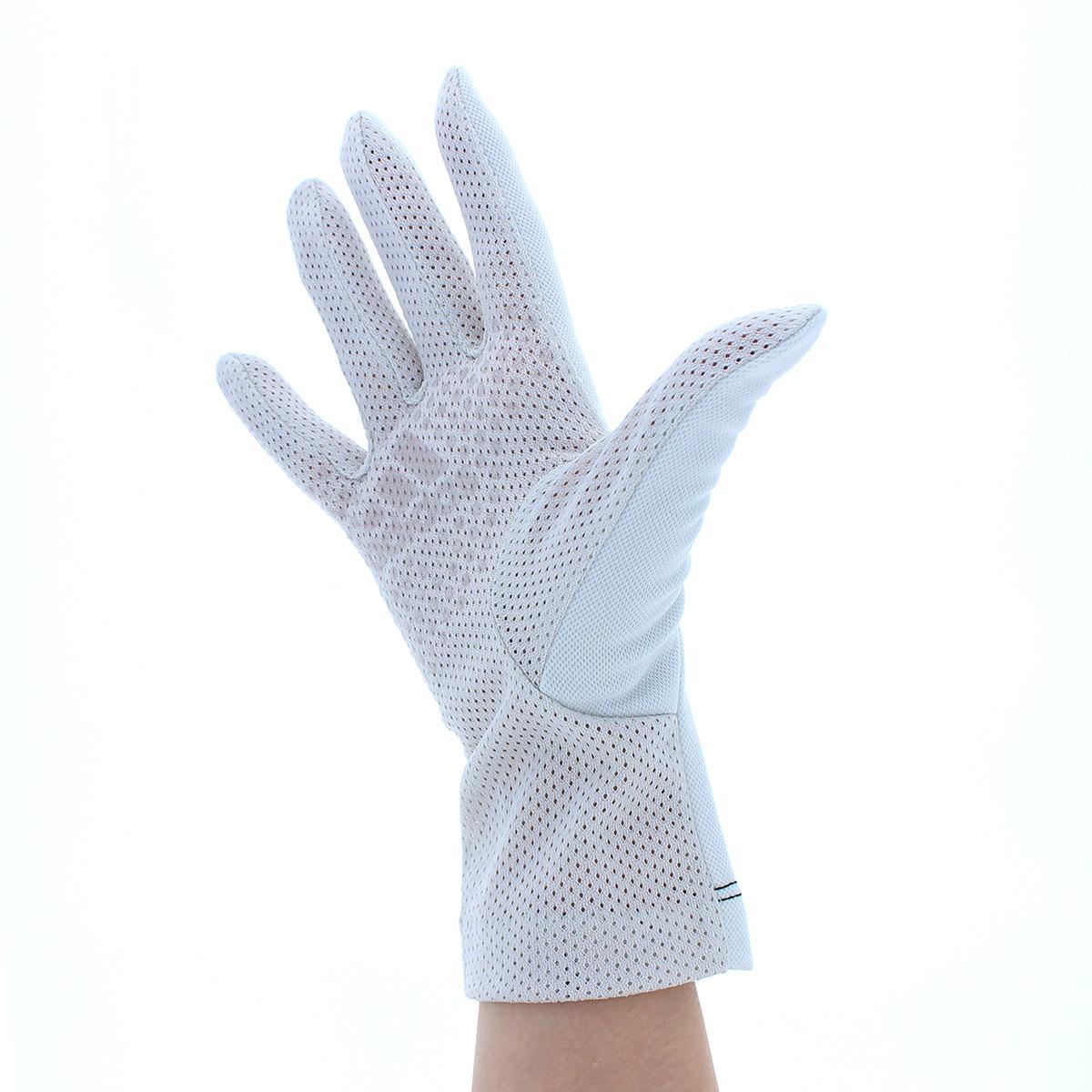アディダス レディース UVカット グローブ UV手袋 ショート丈 23cm ジョギング UVカット率95%以上 吸水速乾 防汚加工 ストレッチ 掌メッシュ素材 すべり止め