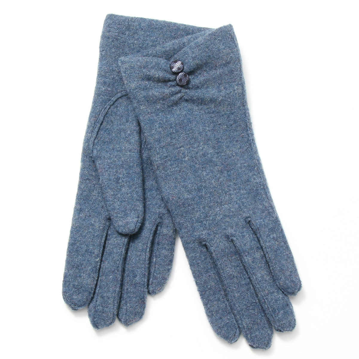 レディース手袋 あったか 二重ジャージ シルクカシミヤ混裏地付 アルタクラッセカプリガンティ Mサイズ 全5色