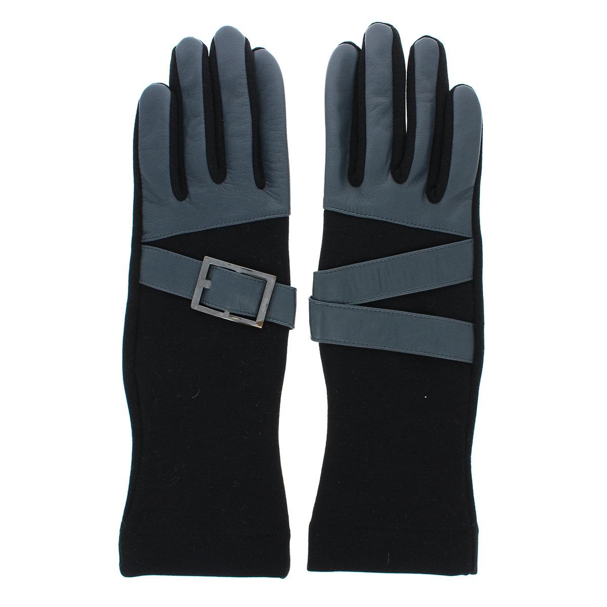 ジャージ 手袋 アシンメトリーデザイン 少し長め丈 ストレッチ素材 BIYUTE