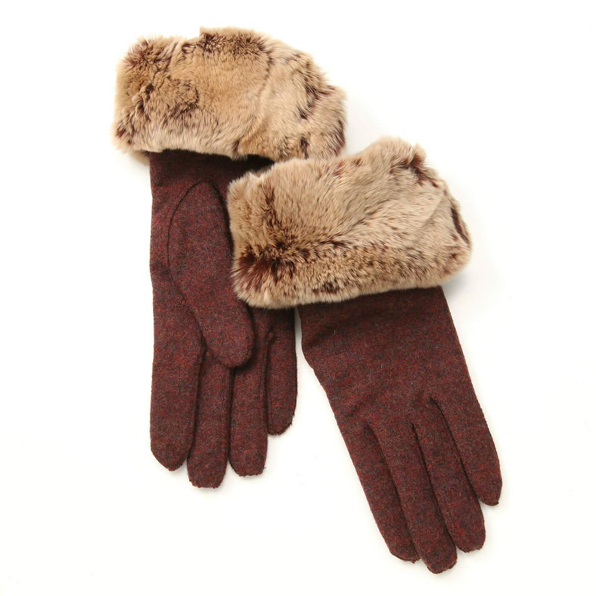 アルタクラッセレディース セミロング丈 ボリュームたっぷり レッキスファー付 ジャージ手袋 Mサイズ 全3色