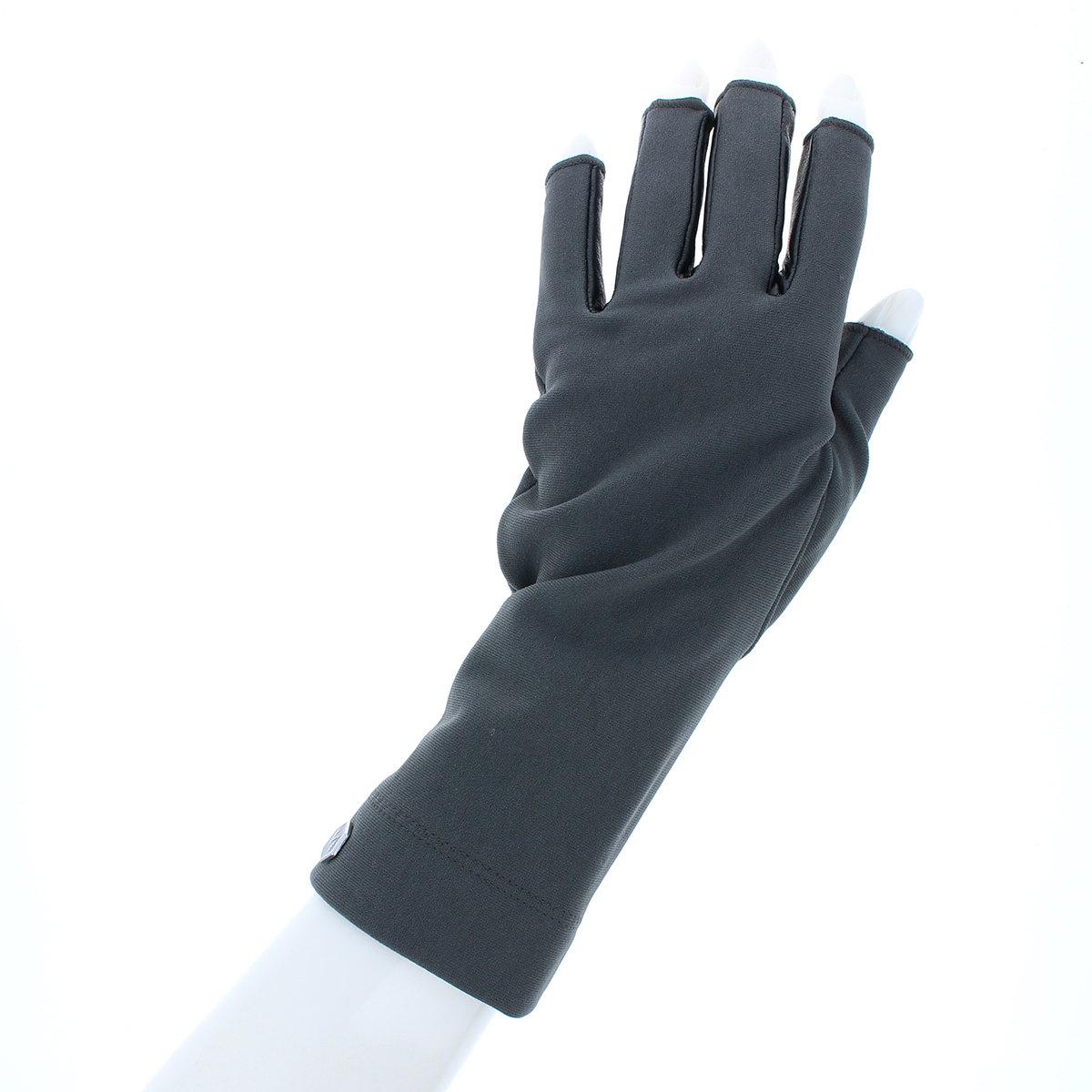 ジャージ 手袋 指切りスタイル 革コンビ ストレッチ素材 BIYUTE
