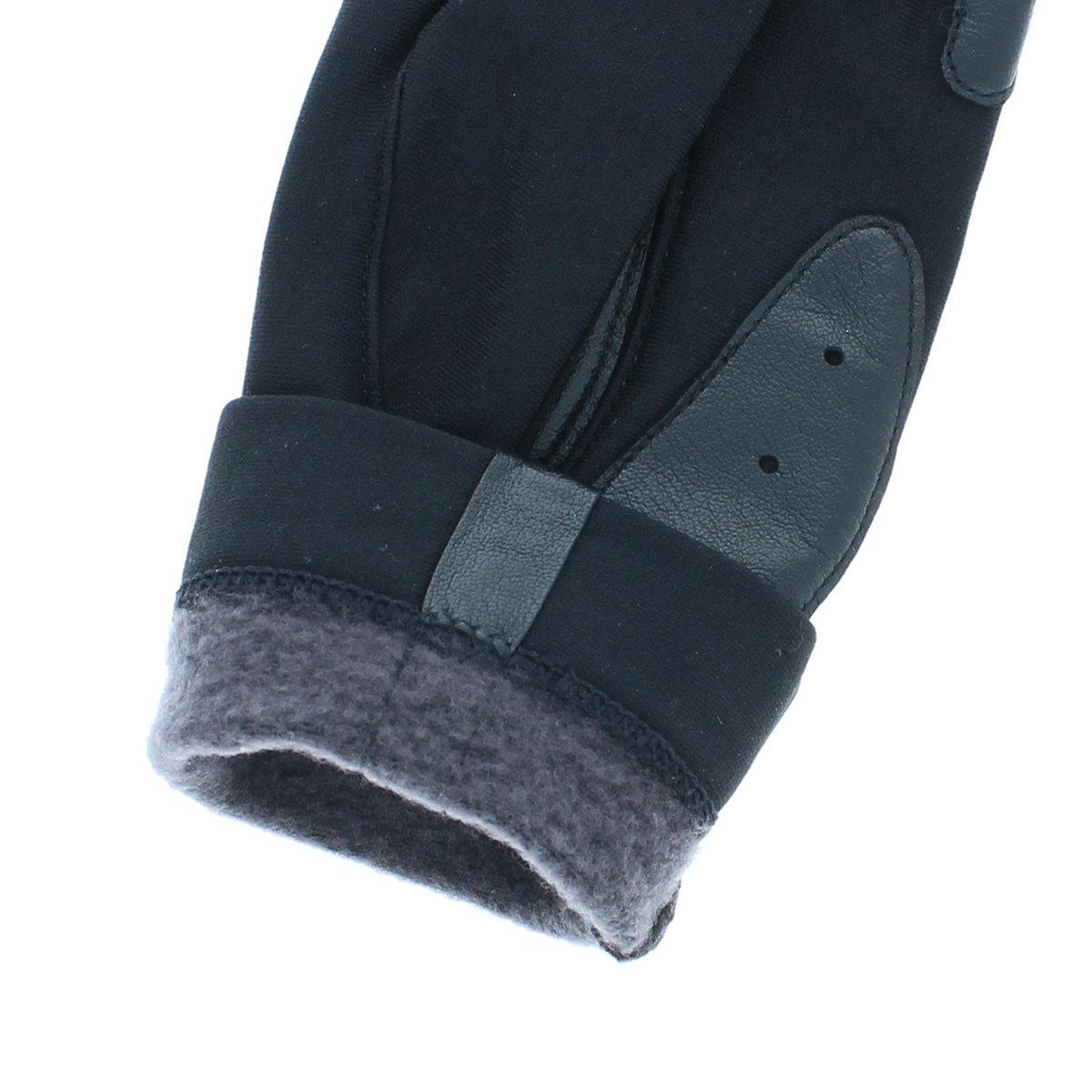 ジャージ 手袋 指切りスタイル すべり止め付 スポーティー ストレッチ素材 BIYUTE