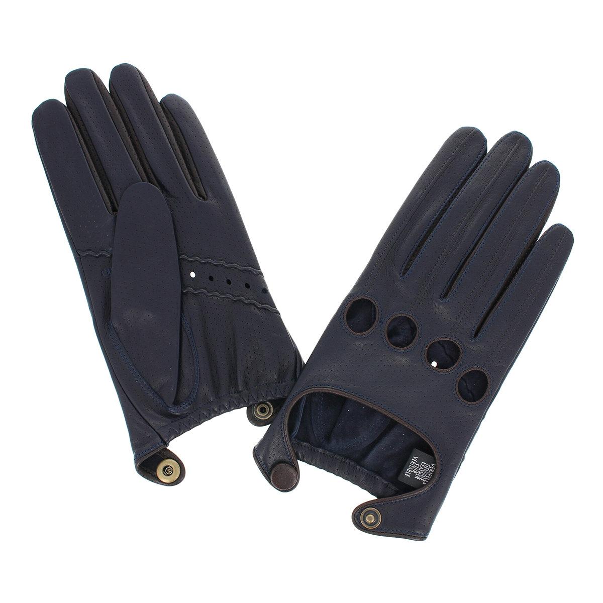 メンズ ドライビンググローブ ドライビング手袋 五本指 アルタクラッセ 男性用 運転 レザー 羊革 限定 ファッション雑貨 裏地無 4サイズあり