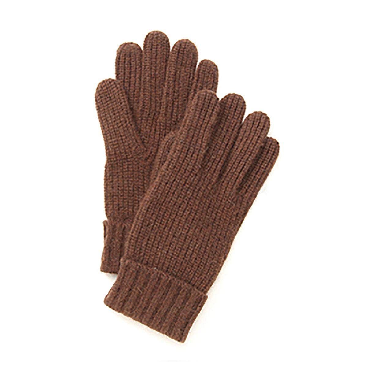 DAKS ロゴ刺繍入り ケーブル編みニット メンズ 手袋 日本製 フリーサイズ 全3色