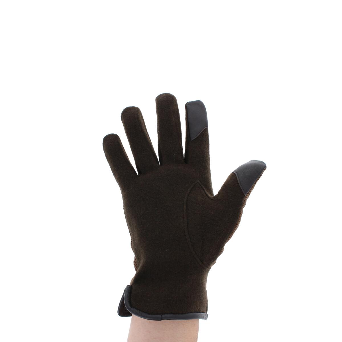 メンズ手袋 スマホ対応 人気ブランド オロビアンコ orobianco 男性用 防寒 暖か シンプル ウール混 ジャージ 革カフス 通勤 プレゼント