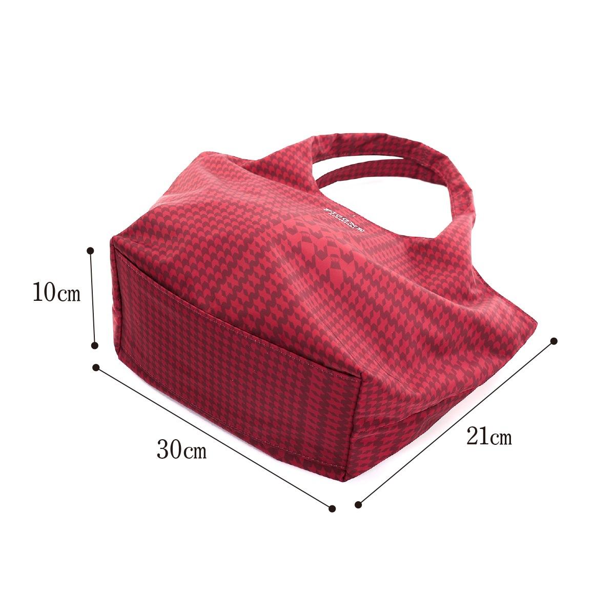【新作】【送料無料】PICONE ピッコーネ トートバッグ ハンドバッグ 幅30×高さ21×マチ10 千鳥柄 マチ付 ポケット付きおしゃれ クラシカル モダン人気ブランド