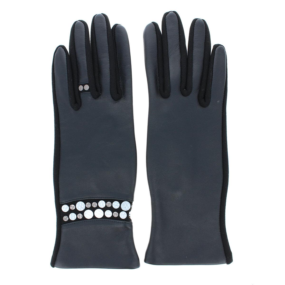 革手袋 ホットフィックスメタル アクセ風デザイン BIYUTE