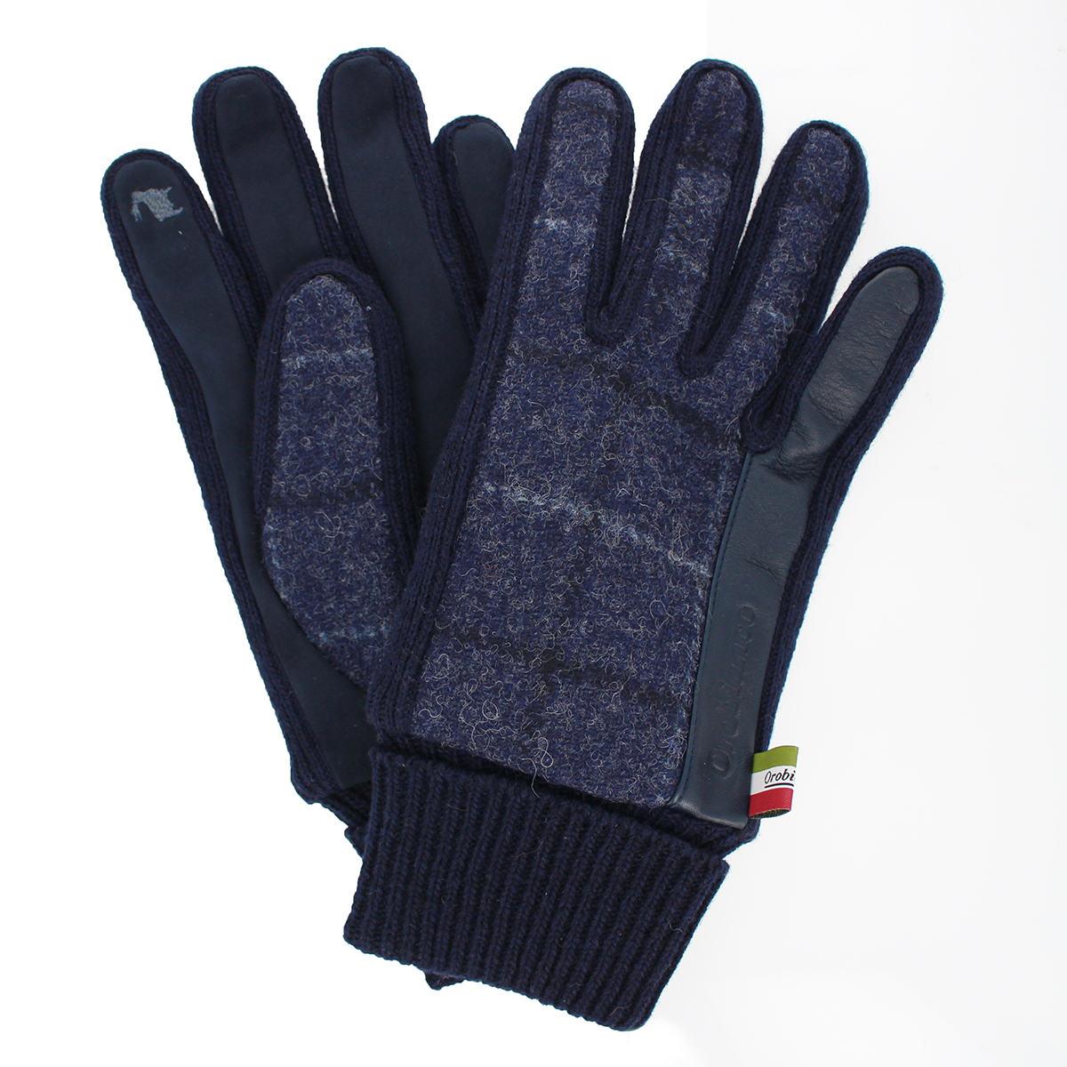 メンズ手袋 スマホ対応 オロビアンコ 羊革 ウール レザー プレゼント 通勤 ペア 防寒 おしゃれ ビジネス小物 ファッション雑貨