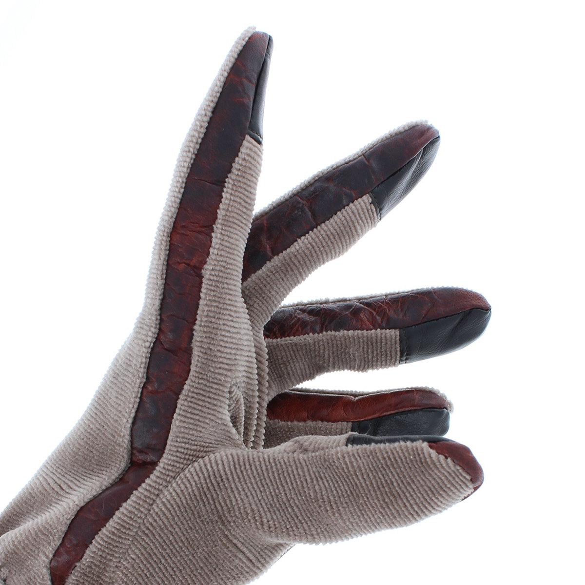 オロビアンコ メンズ コーデュロイ ビンテージ風 ジャージ手袋 タッチパネル対応