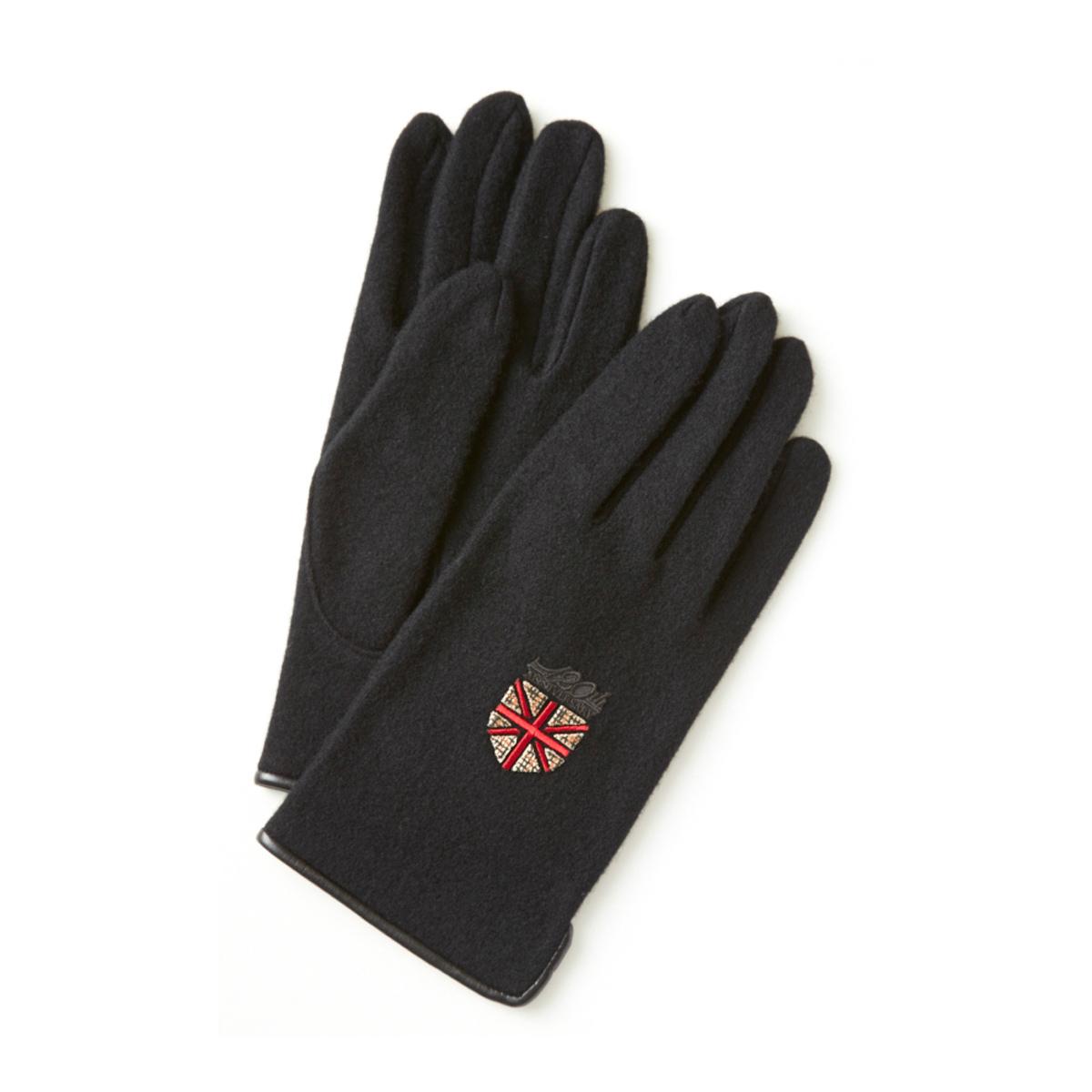 DAKS ウール混ジャージ メンズ手袋 ユニオンジャックワッペン 23〜24cm(M) 全4色