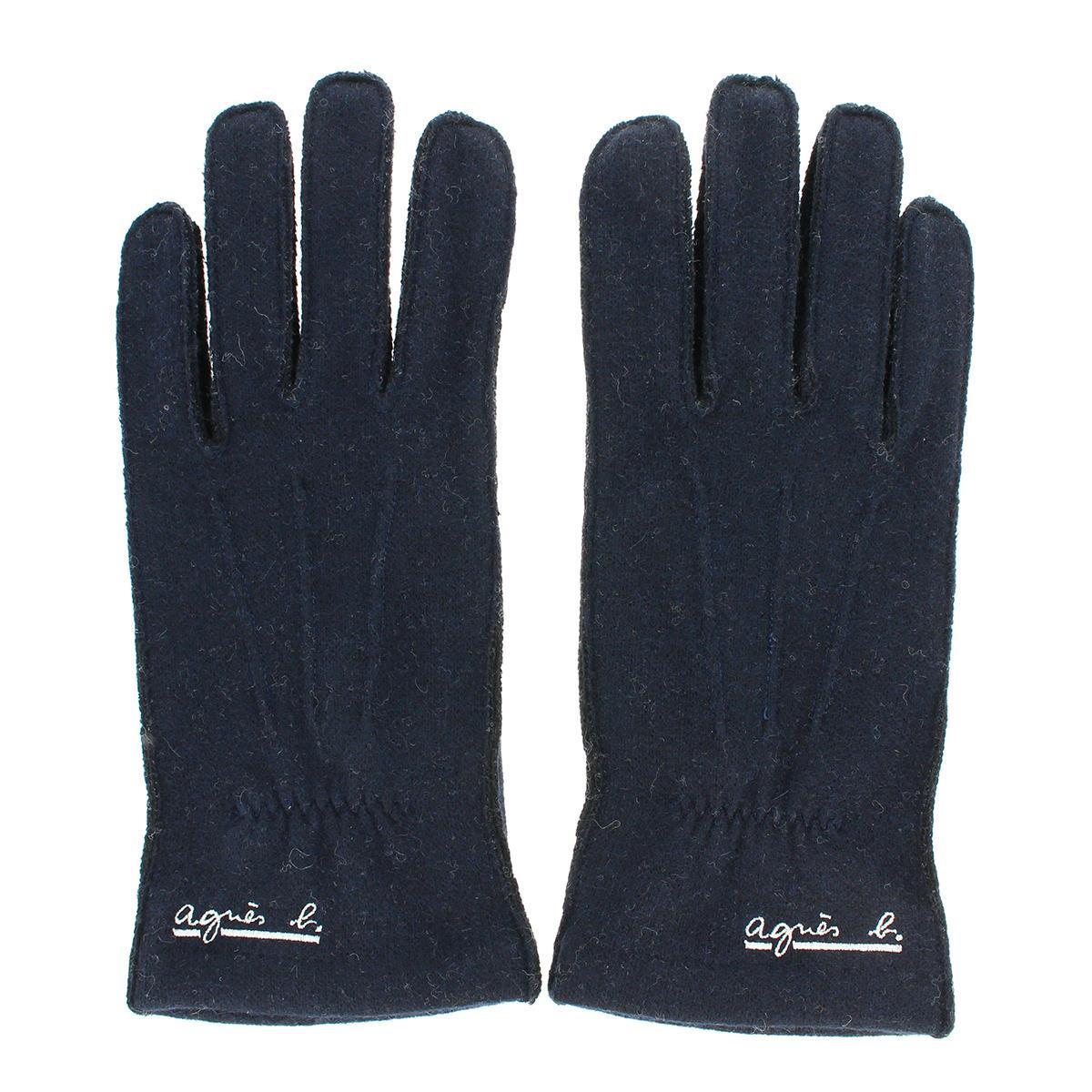 【SALE】メンズ手袋 ジャージ プレゼント 人気ブランド アニエスベーオム 男性用 防寒 保温 シンプル スマホ対応 タッチパネル対応 ギフトに最適