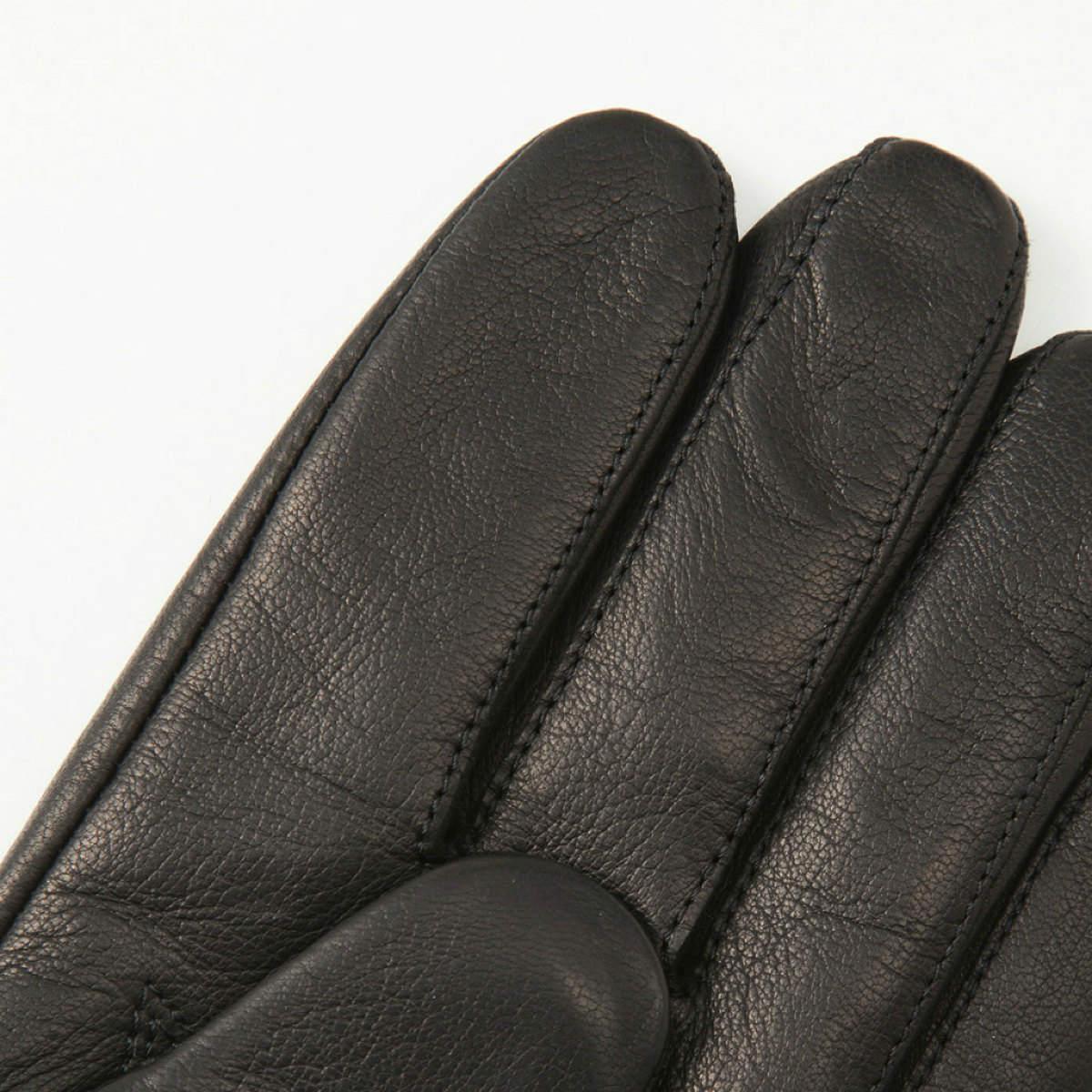 アルタクラッセ カプリガンティメンズ レッキスファー付/革手袋ブラック