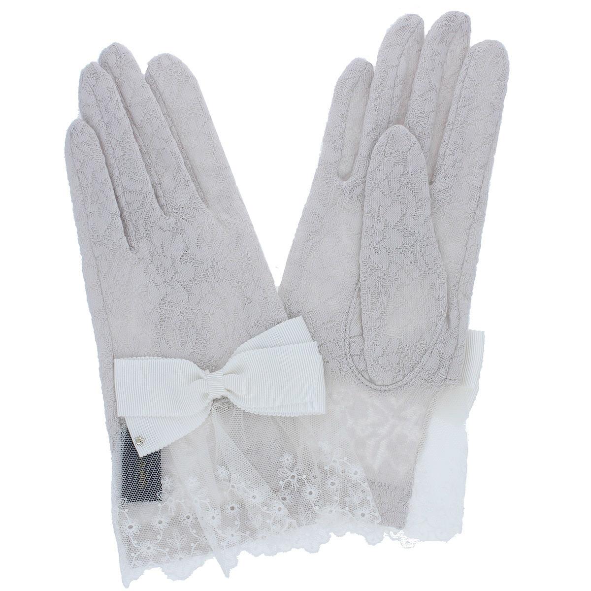 アルタクラッセ UV手袋 UVカット 紫外線対策 ショート丈 24cm パーティ 五本指 エレガント 花柄 上品 フェミニン リボン レース チュール かわいい プレゼント