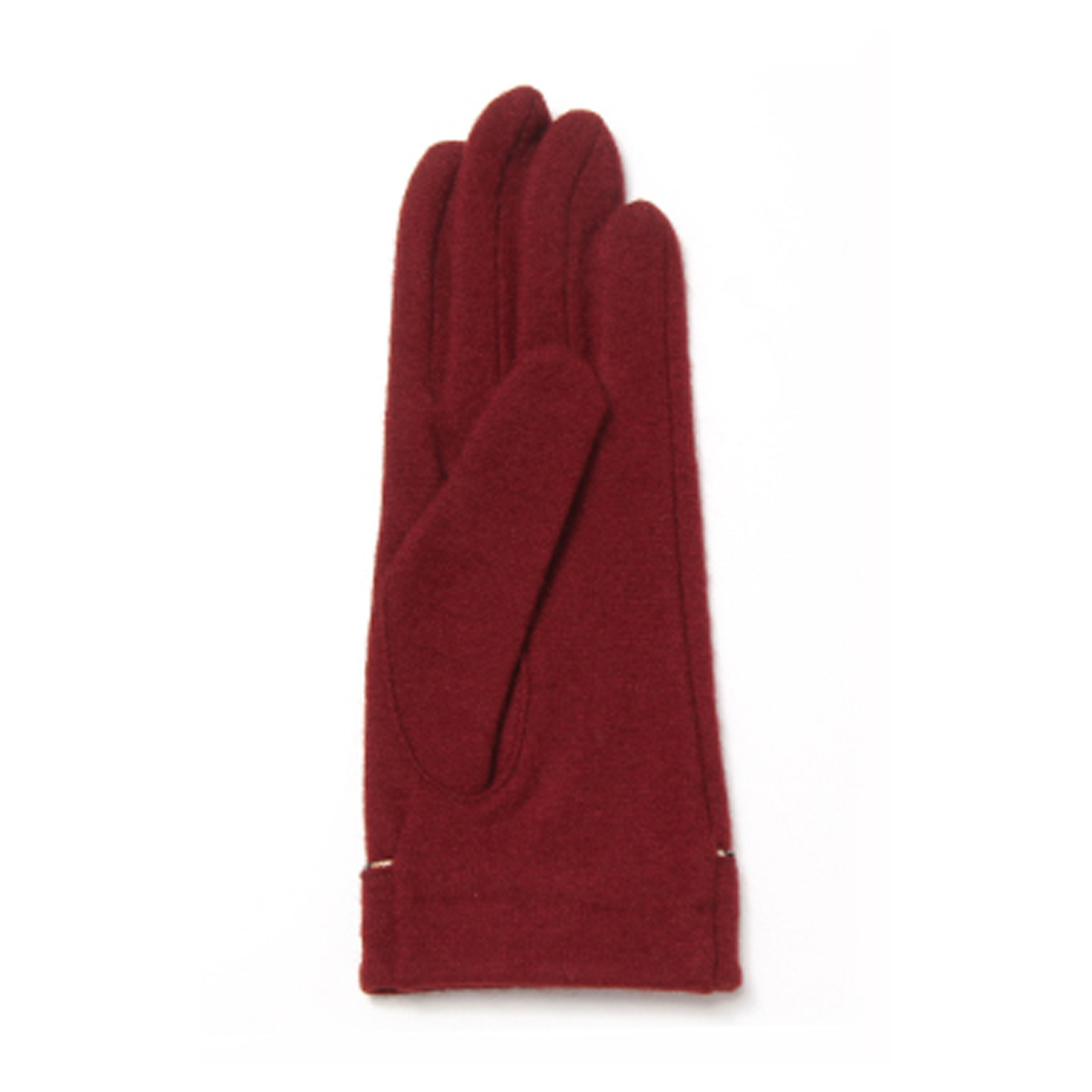 DAKS ロゴ刺繍 ハウスチェックコードパイピング カシミヤ混ジャージ レディース手袋 日本製 Mサイズ 全4色