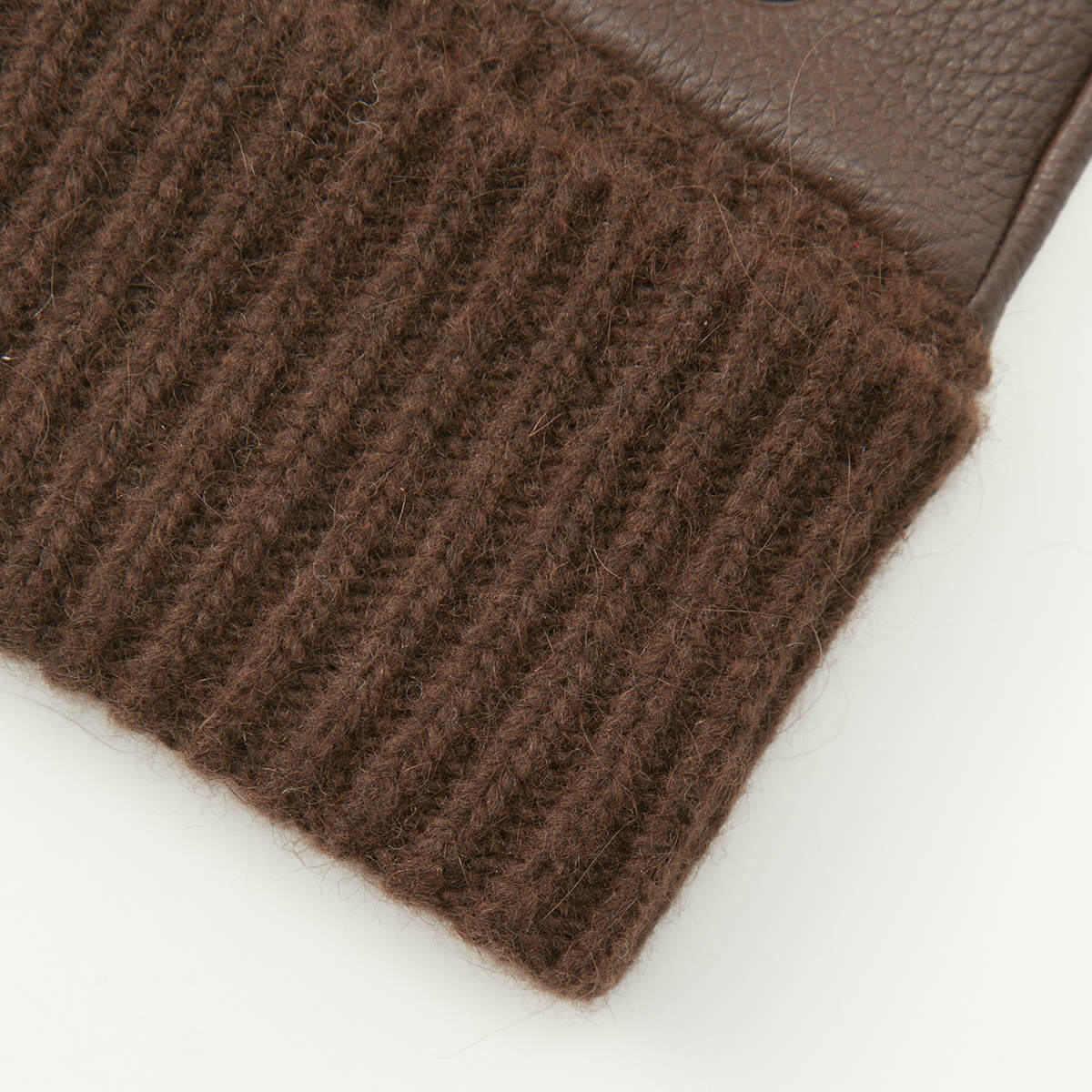 アルタクラッセ カプリガンティ メンズ ニットカフス 鹿革 指なし 革手袋 全3色 24cm(M)