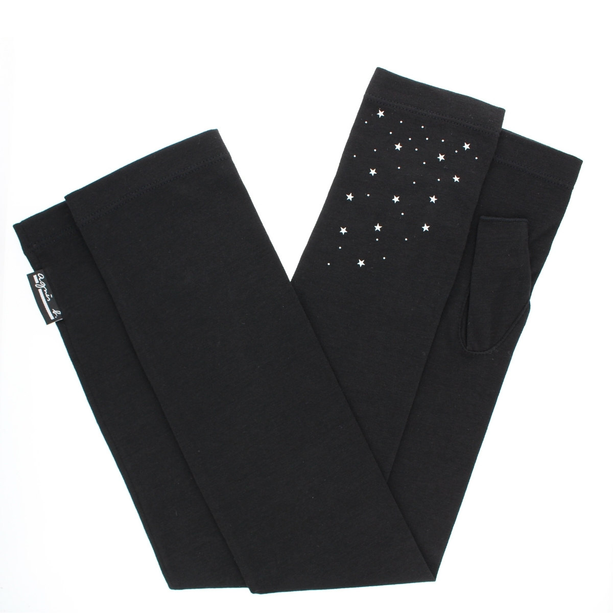【 21年SS新作 】アニエスベー UV手袋 UVカット 紫外線対策 ロング丈 55cm UPF50+ UVカット率99% ストレッチ スマホ タッチパネル対応 星プリント