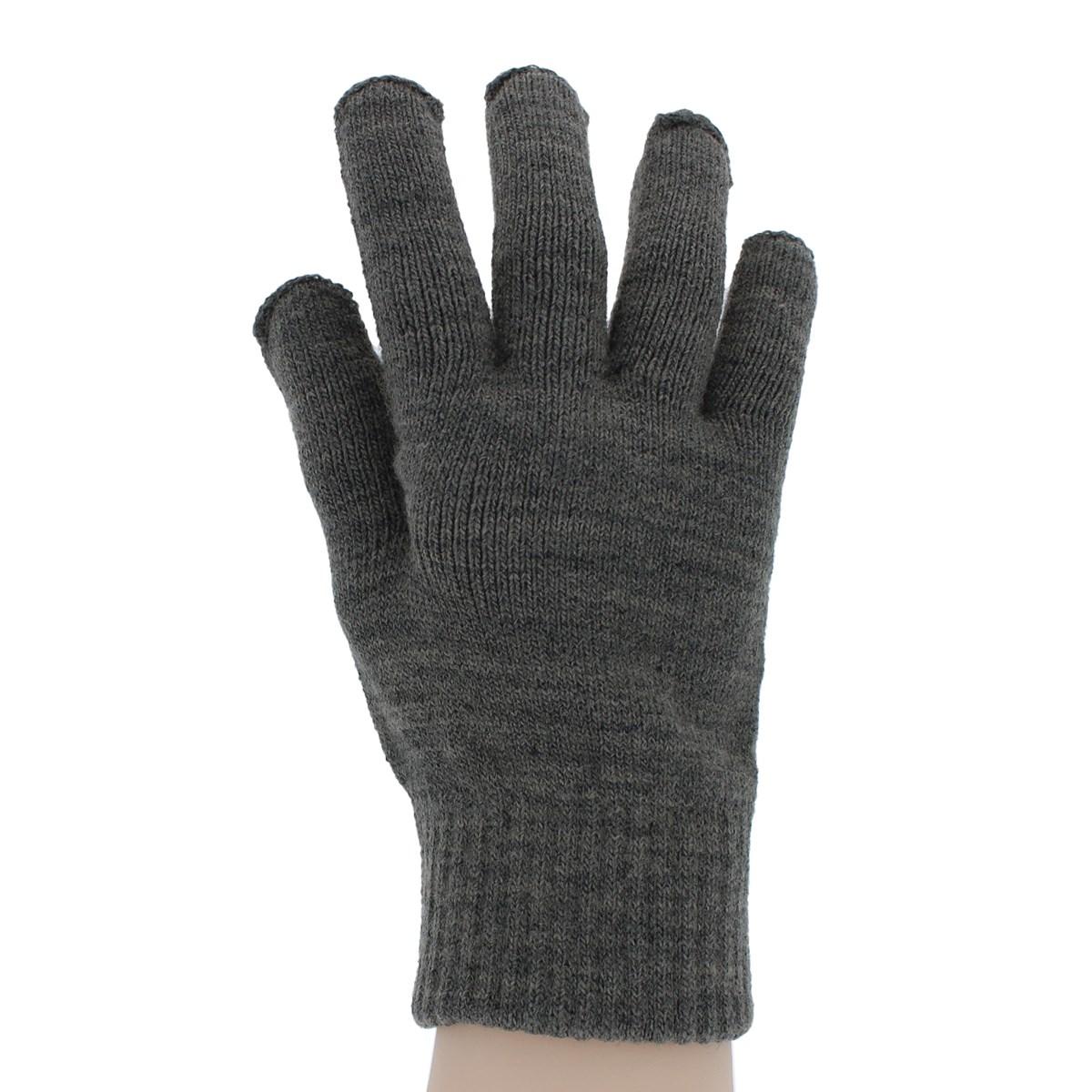 【スマホ対応】YUBIDERU ユビデル メンズ ニット手袋 抗菌防臭 指先が出る 遠赤外線 裏起毛 タッチパネル対応 滑り止め付 日本製 指紋認証ラクラク