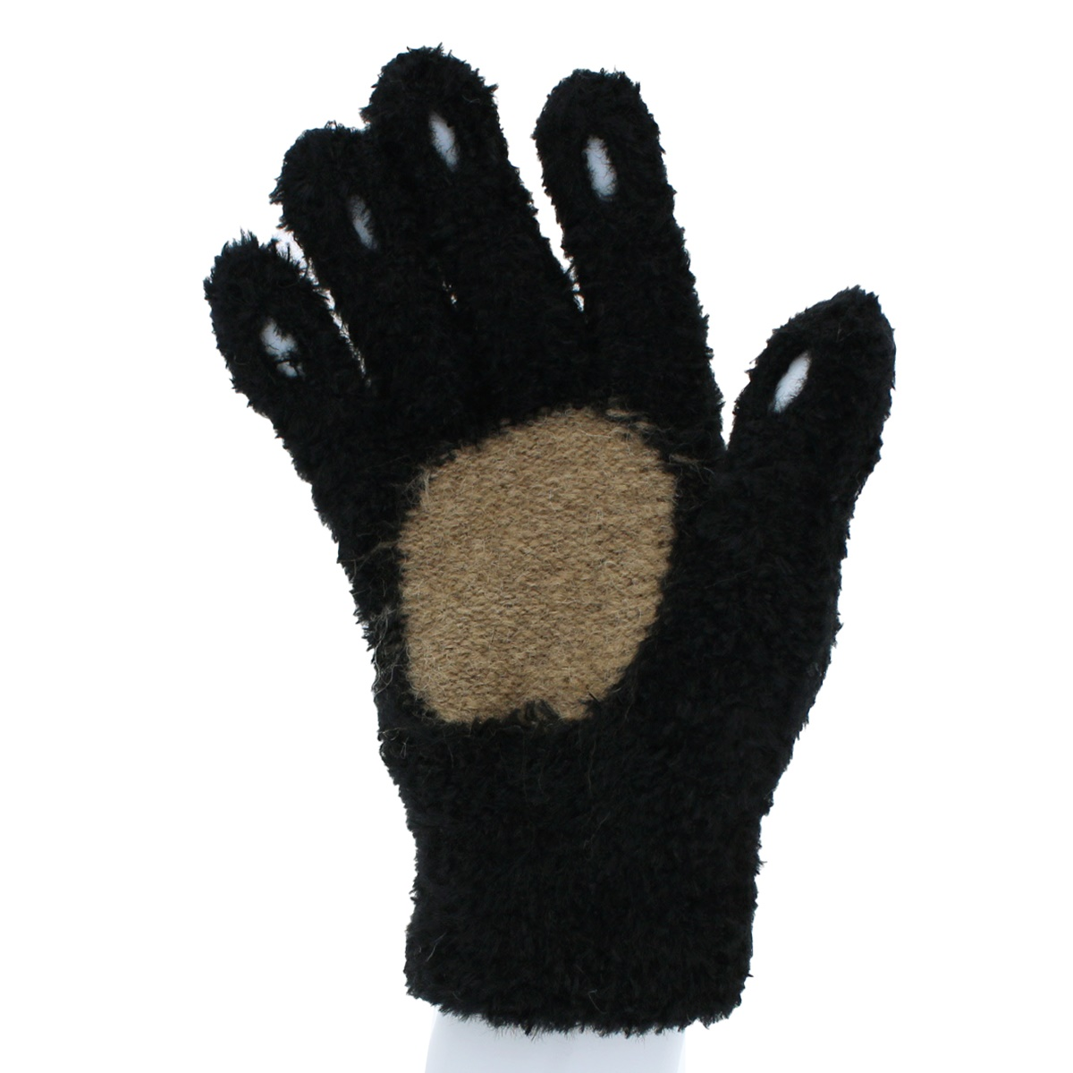 【スマホ対応】YUBIDERU ユビデル  レディース ニット手袋 指先が出る スマホ 指紋認証対応 スマホ手袋 あったか ふわもこ ボア手袋 五本指 日本製 キツネ柄