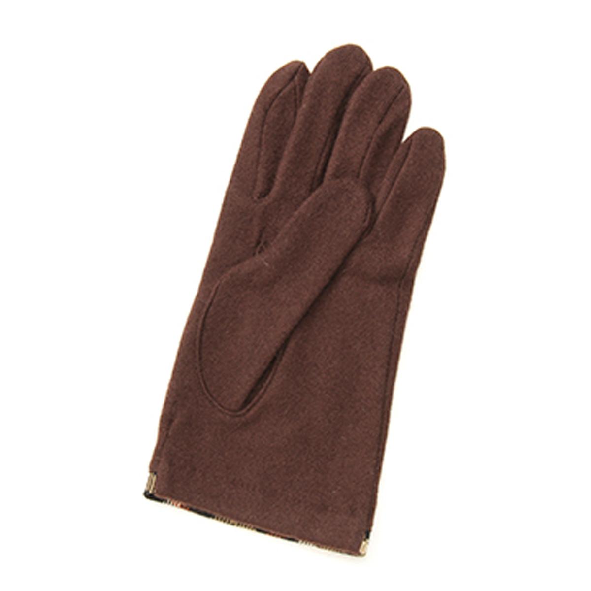 DAKS カシミヤ100% ジャージ メンズ手袋 裾ハウスチェックパイピング 日本製 23〜24cm(M) 全4色