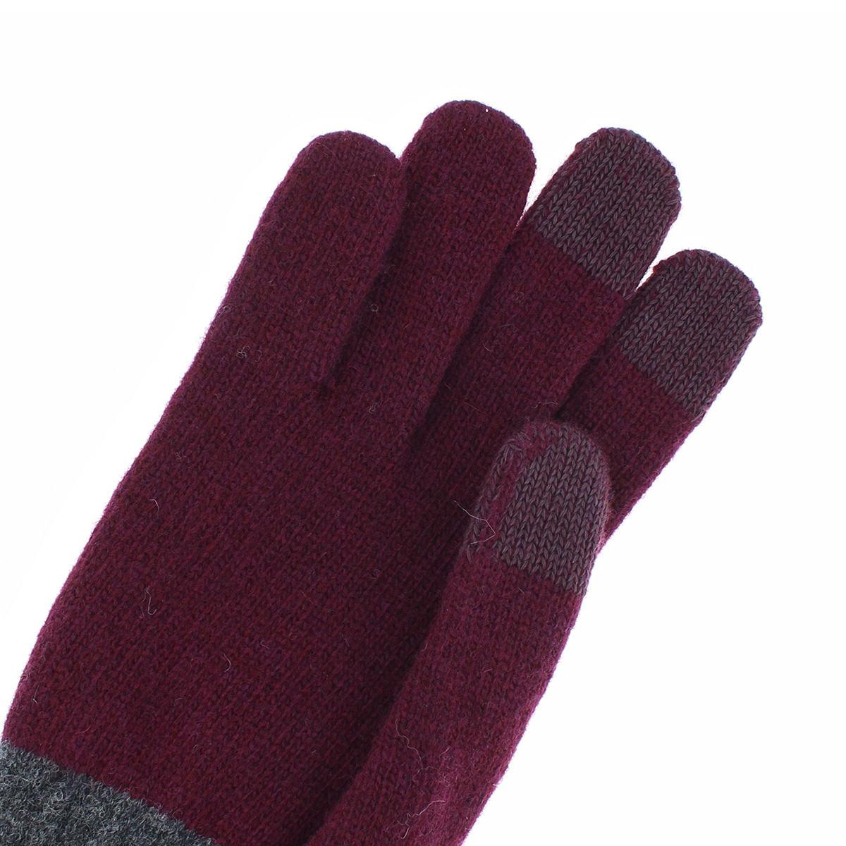 【SALE】手袋メンズニット アニエスベー スマホ対応 防寒 アウトドア 秋 冬 暖かい スポーツ ブランド バイク プレゼント 防風 おしゃれ