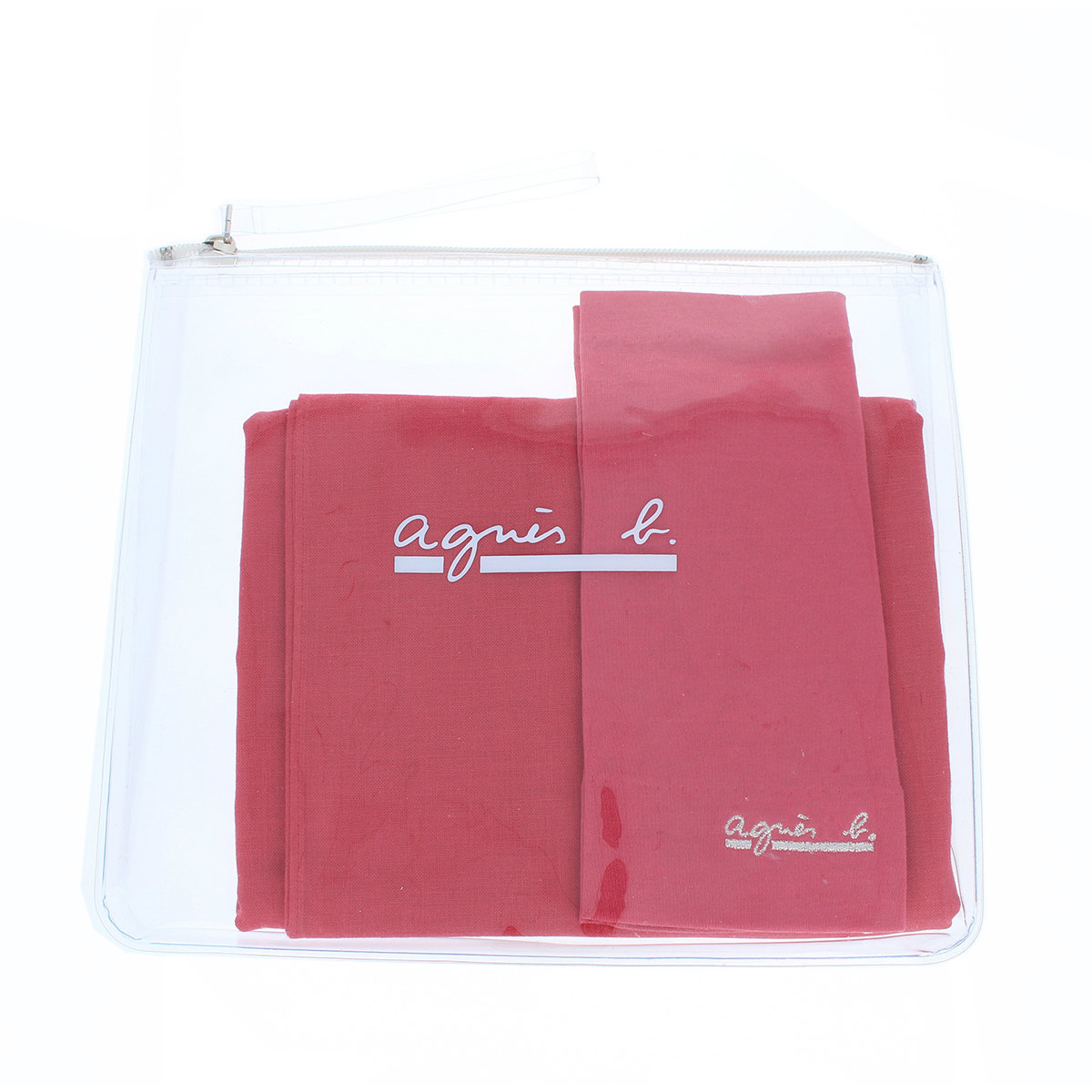 アニエスベー agnes b UVカット UV手袋 UVストール ポーチ付き セット タッチパネル スマホ対応 指なし ショート丈 18cm プレゼント プレゼント