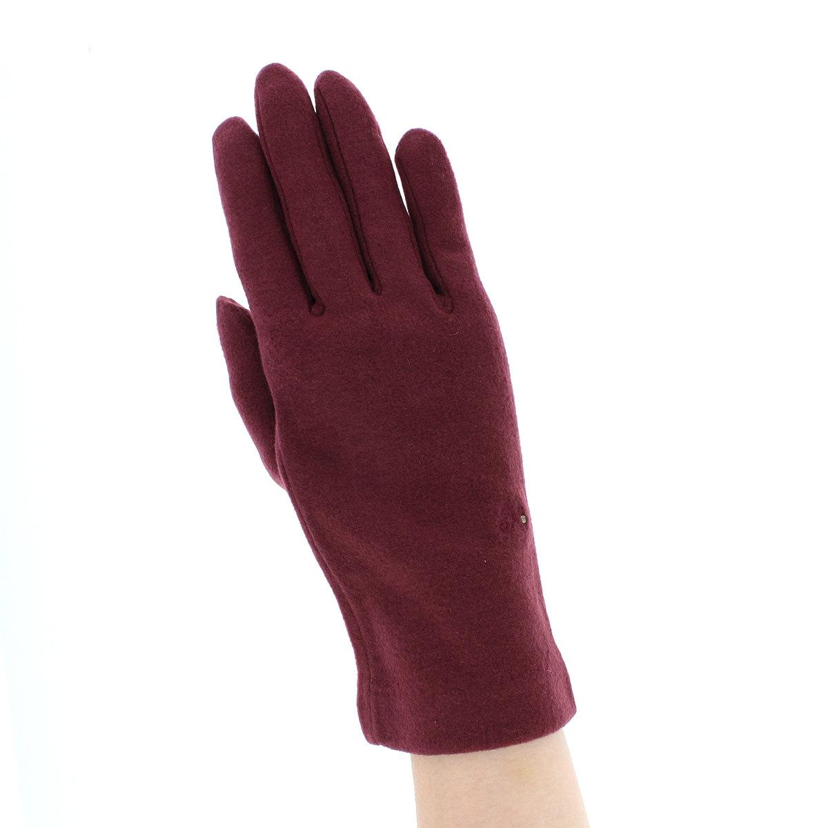 カナナプロジェクト レディース 抗菌 抗ウイルス ジャージ手袋 クレンゼ 秋冬 ウイルス対策 タッチパネル スマホ対応 すべり止め付 シンプル 五本指手袋