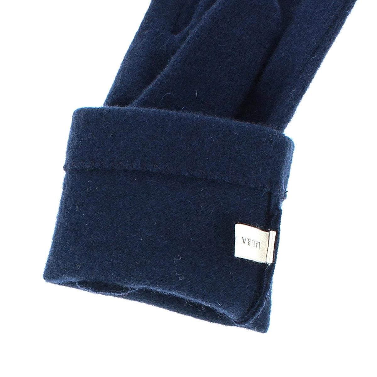 ローラアシュレイ 人気ブランド レディース ジャージ手袋 タッチパネル スマホ対応 可愛い ガーリーデザイン 秋冬 五本指手袋