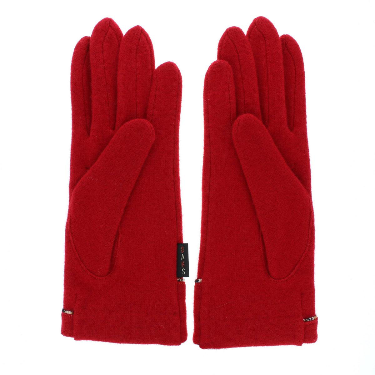 【SALE】DAKS タスマニアラム ジャージ 婦人手袋 五本指 ダックスフント刺繍 女性用21〜22cm(M)