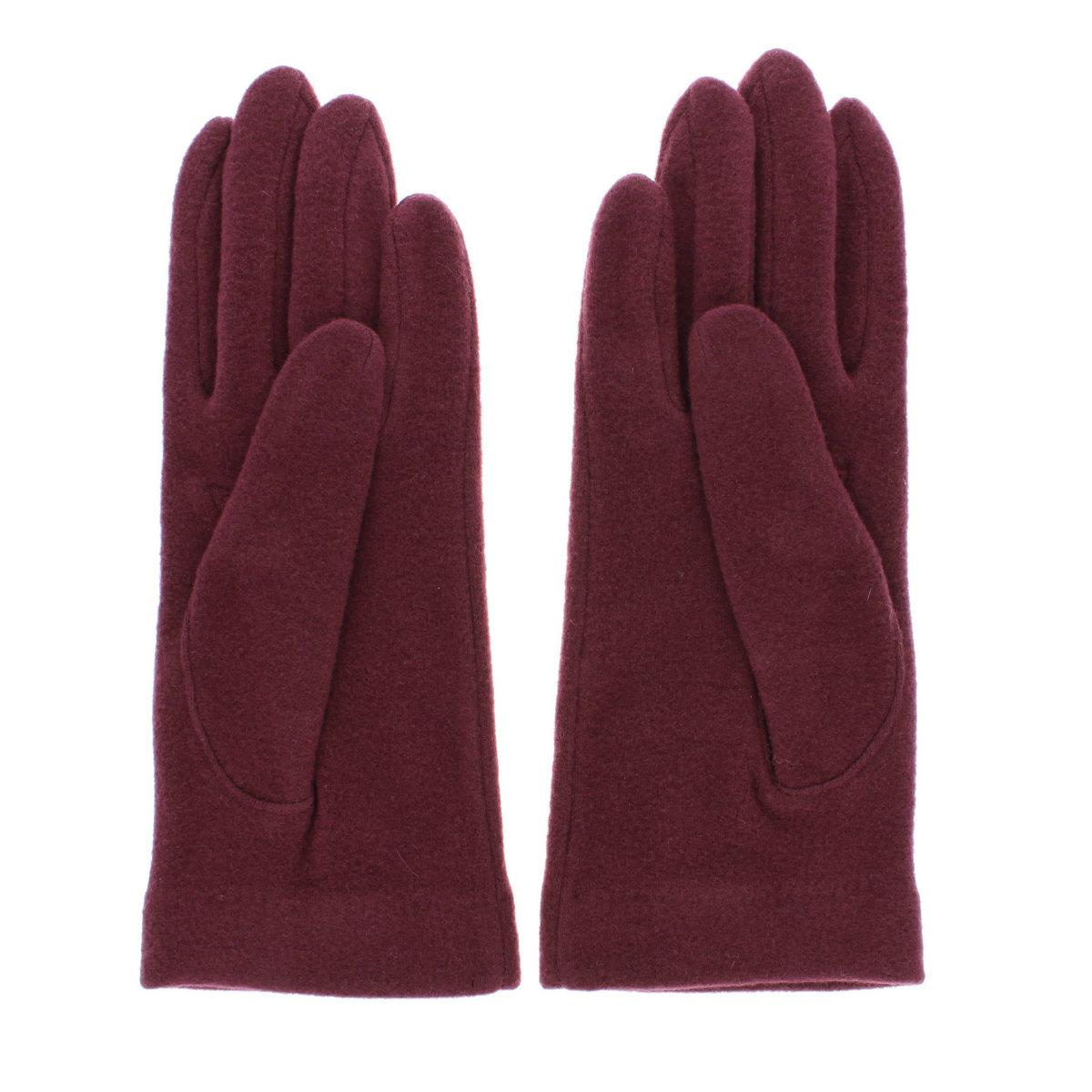 【SALE】DAKS シーズンモチーフ柄刺繍 アクリルテンセル ジャージ 婦人手袋 五本指  女性用21〜22cm(M)