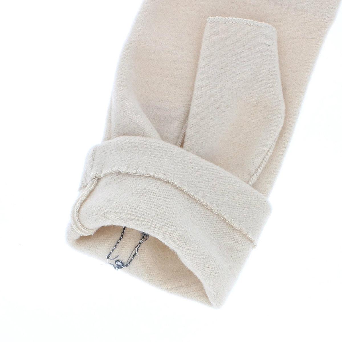 ピッコーネ レディース ジャージ手袋 指なし手袋 秋冬 スマホ タッチパネル対応 柔らかな肌触り アクリルテンセル おしゃれ アシンメトリー アップリケ柄