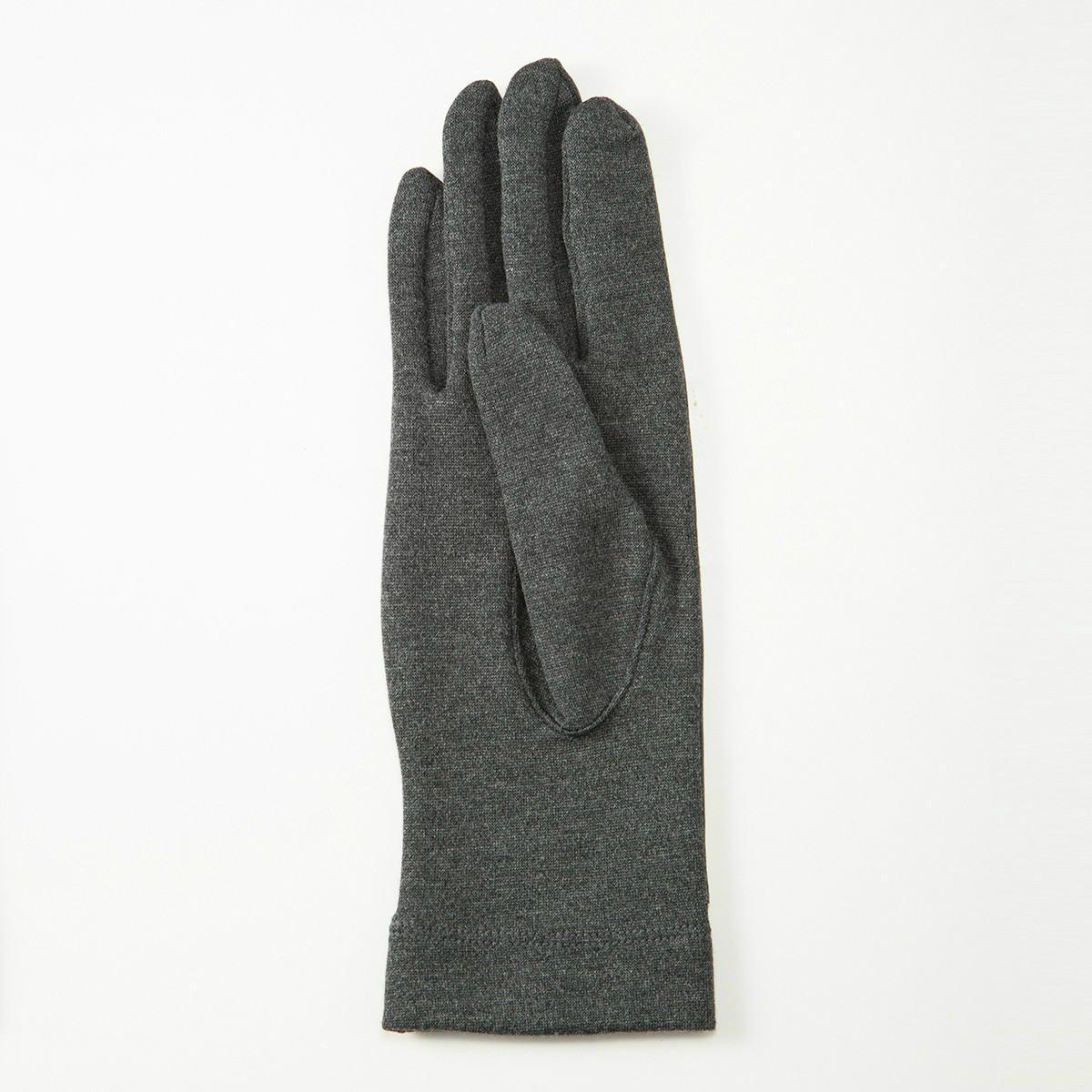 BIYUTE レディース ジャージ手袋 甲側レザー ストレッチ素材との組み合わせ Mサイズ 全3色