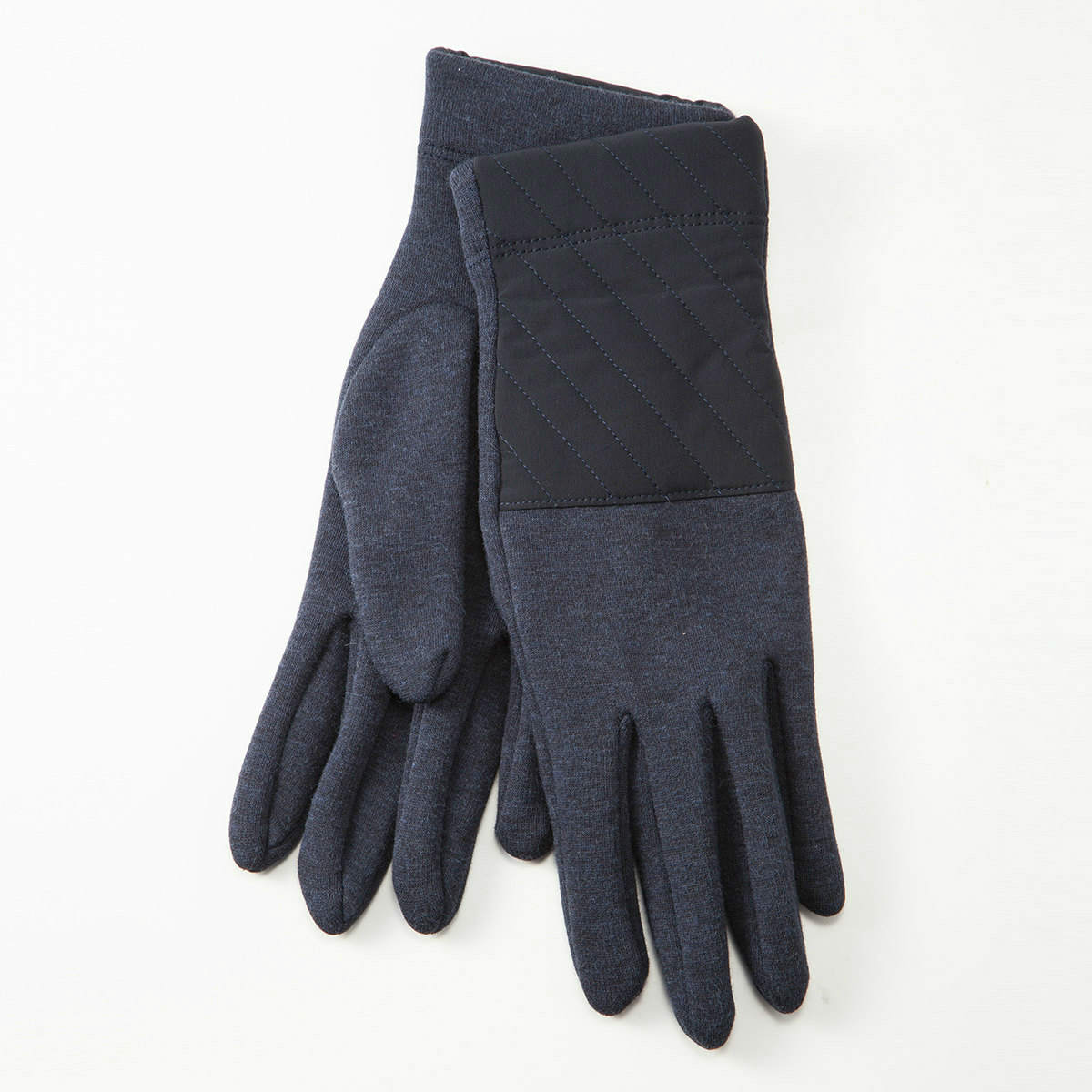BIYUTE レディース ジャージ手袋 あったか 裏起毛 キルティングとの切替デザイン ストレッチ素材 Mサイズ 全3色