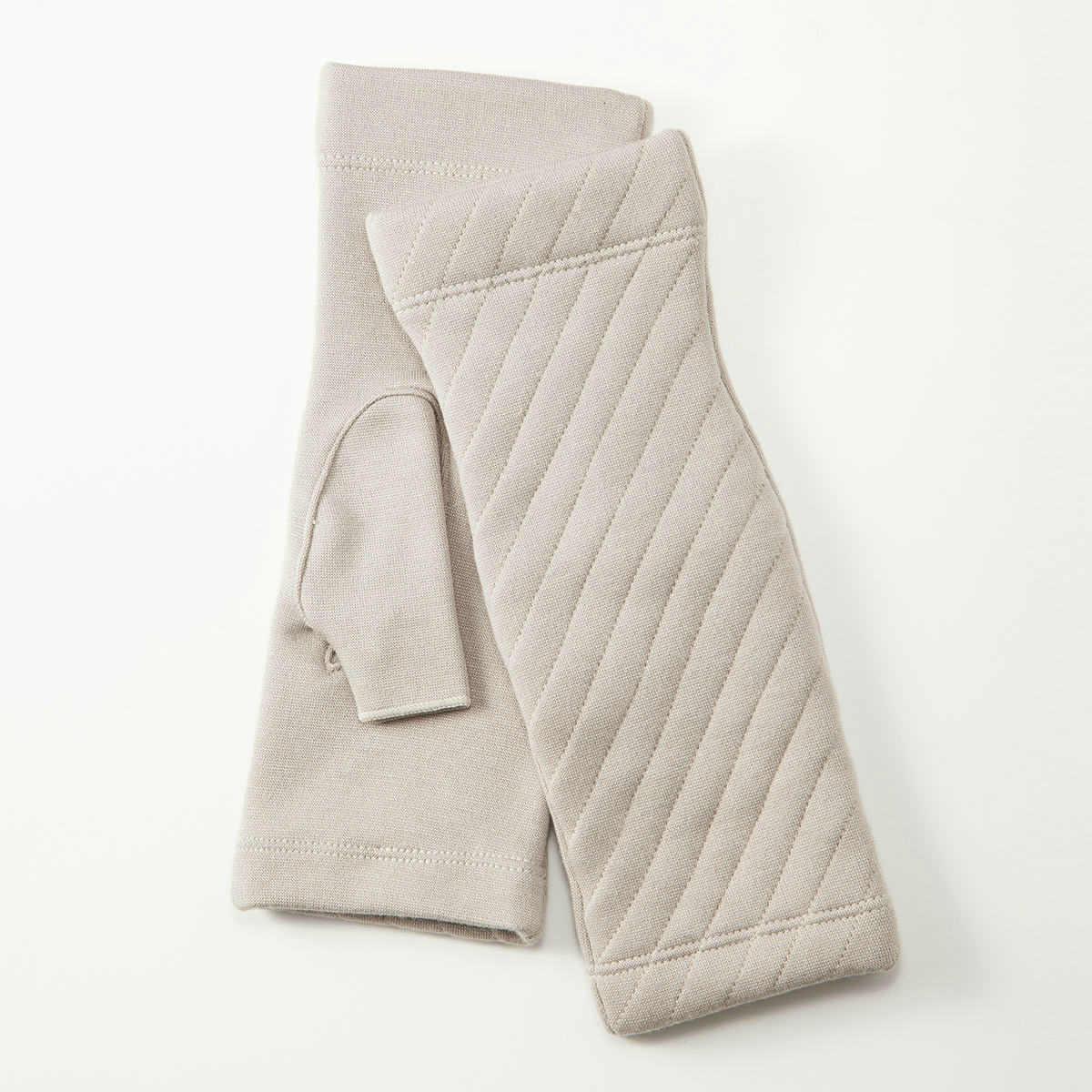 BIYUTE レディース ジャージ手袋 指なしタイプ キルティングデザイン ストレッチ素材 Mサイズ 全3色