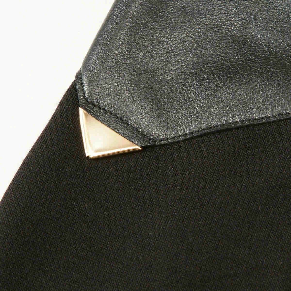 BIYUTE レディース ジャージ手袋 指なしタイプ ちょっと長め丈 甲側レザー ストレッチ素材との組み合わせ Mサイズ 全2色