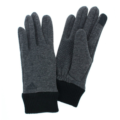 アディダス 人気ブランド メンズ ジャージ手袋 タッチパネル スマホ対応 秋冬 防寒 あったか裏ボア素材 すべり止め付 リブニットカフス カジュアル おしゃれ