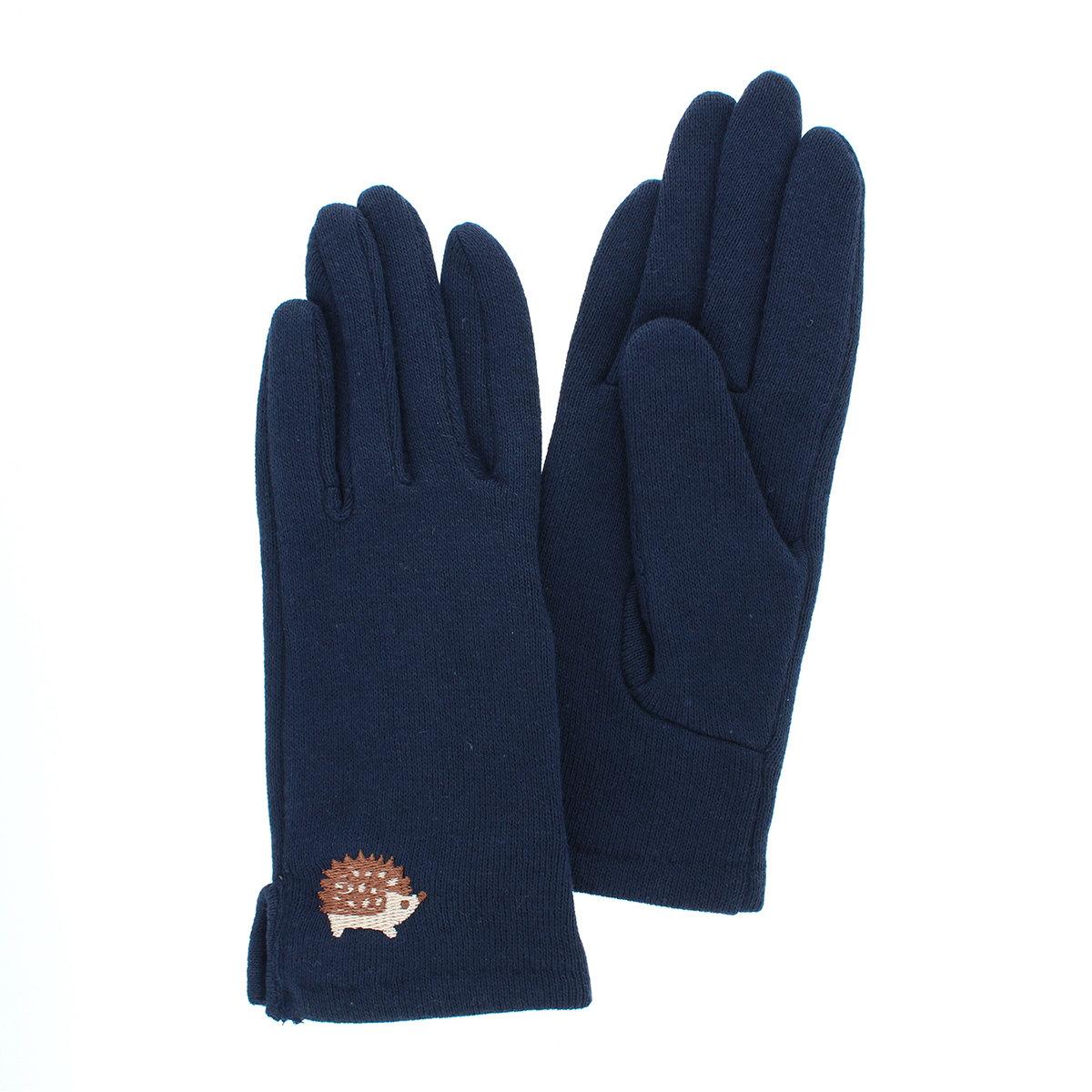 【送料無料】 通学 通園を安全に 手袋 柚子加工 抗菌 接触感染予防 綿100%  五本指手袋  ショート丈 2サイズ 低学年から11歳まで