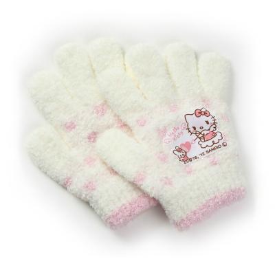 サンリオ ハローキティ キッズ ガールズ手袋 しっかり品質シュークリーム素材保湿性抜群 安心の日本製 ニット手袋