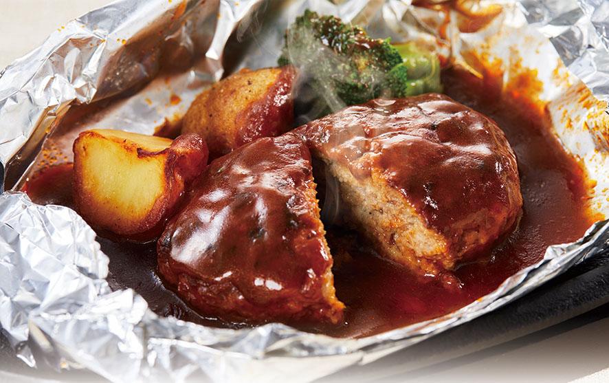 【銀座スエヒロ×養老乃瀧】特製煮込みハンバーグ×養老牛丼コラボセット(各10食)