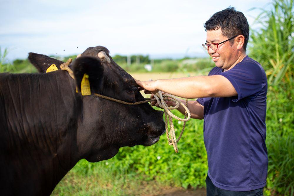 """【与論島産黒毛和牛""""A3等級""""】200g ランプ・イチボ"""