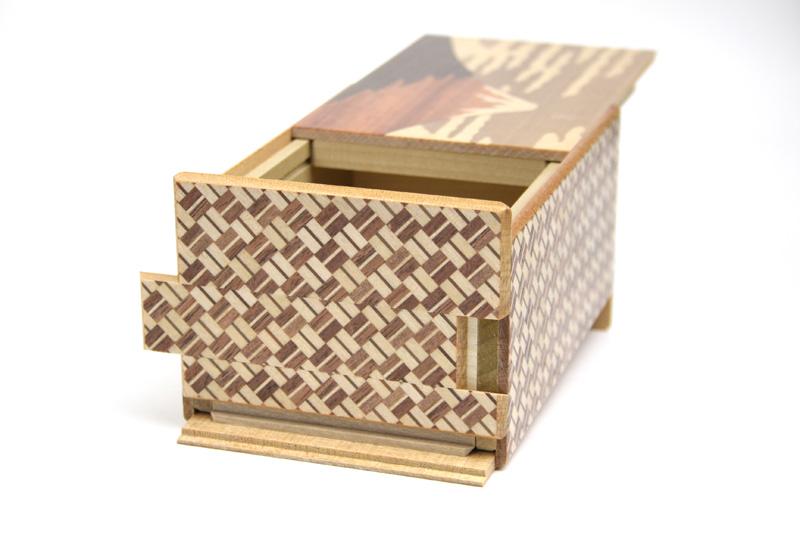 秘密箱21回仕掛け 富士と椿