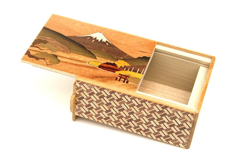 秘密箱7回仕掛け 芦ノ湖と菖