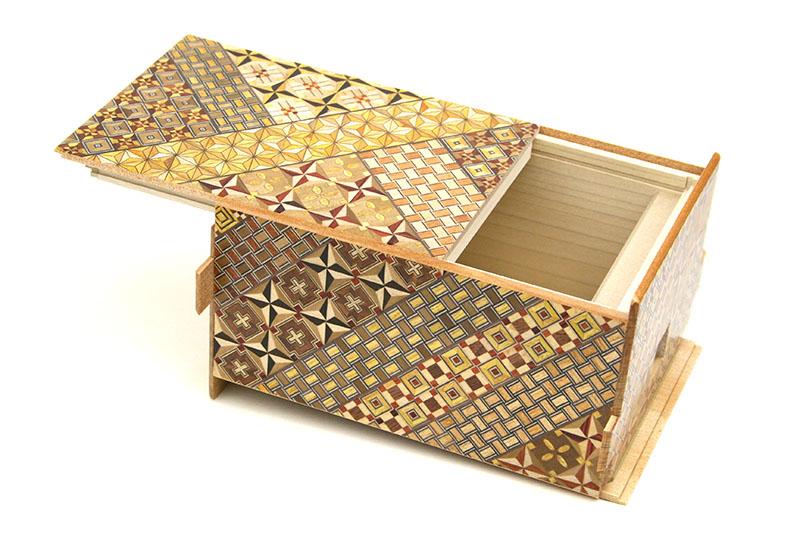 秘密箱28+1回仕掛け 6寸 小寄木