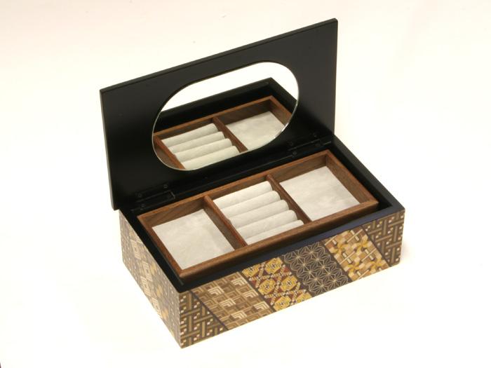寄木8寸2段宝石箱 小寄木