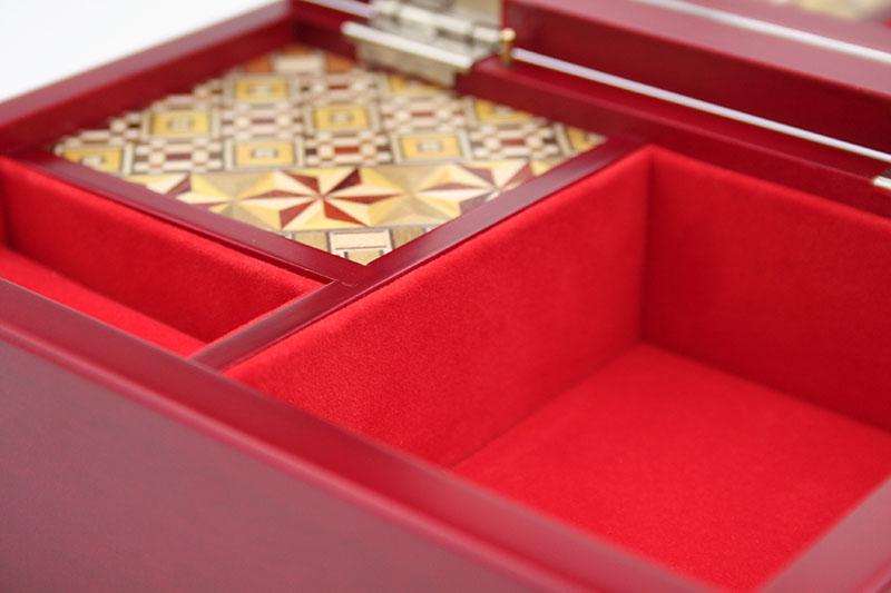 寄木5寸オルゴール宝石箱(曲名:糸−中島みゆき)