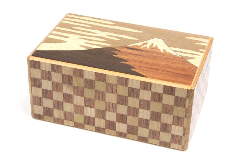 秘密箱10回仕掛け 富士と椿