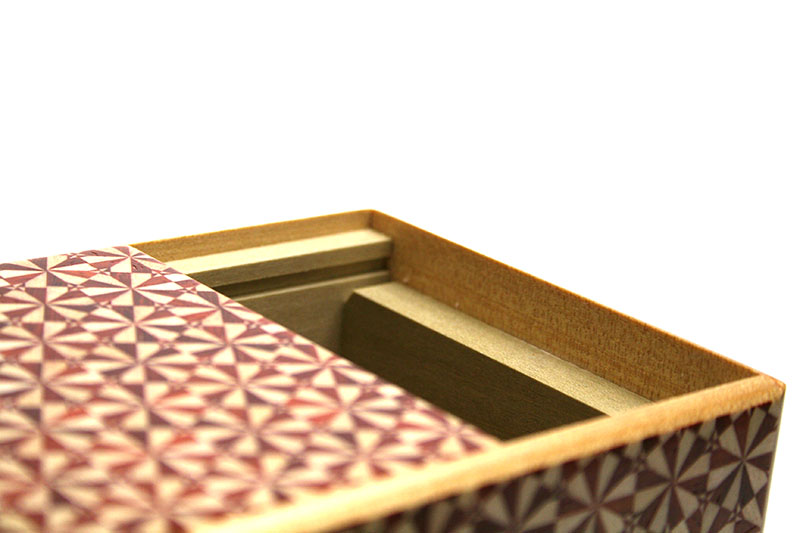 秘密箱5回仕掛け3.5寸 花てまり(赤)