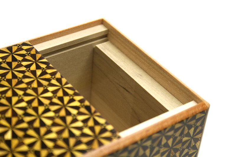 秘密箱5回仕掛け3.5寸 花てまり(黒)