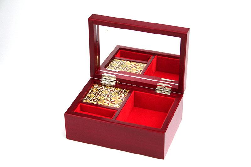 寄木5寸オルゴール宝石箱(曲名:ありがとう−いきものがかり)