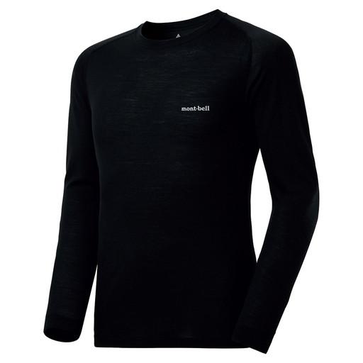 モンベル スーパーメリノウールM.W.(中厚手)ラウンドネックシャツ男性用 1107654
